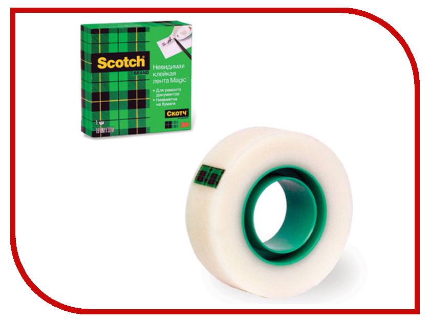 Клейкая лента 3M Scotch Magic 19mm x 33m FT510281676 лента клейкая декоративная восток бумага 15мм x 3м х 4шт