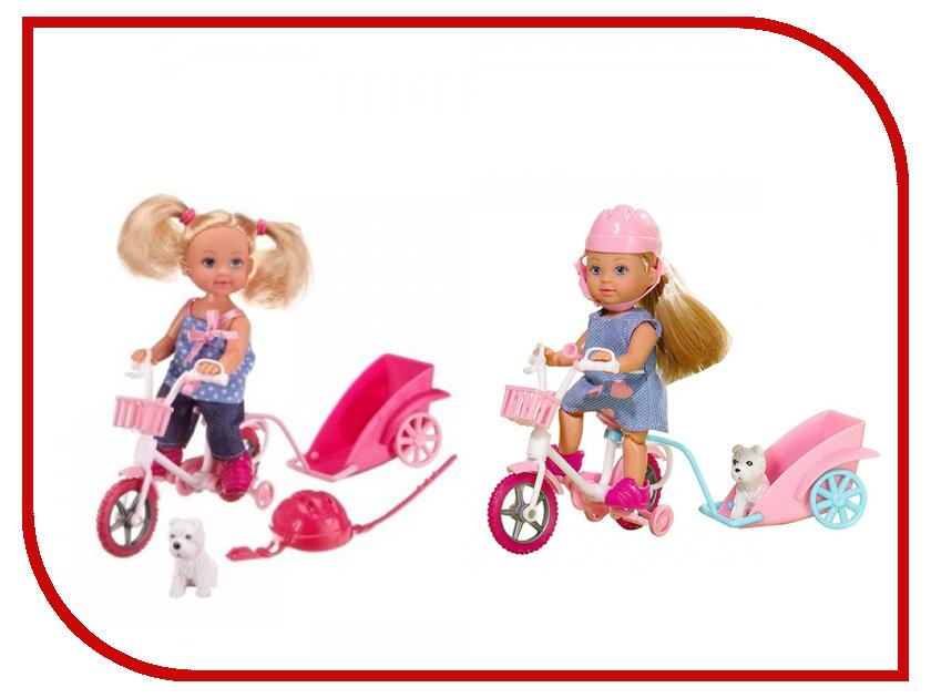 Кукла Simba Еви на велосипеде с собачкой 105617 / 5730783 цена
