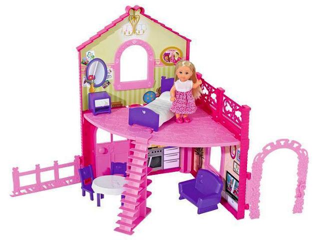 Кукольный домик Simba Еви в двухэтажном доме 105799 / 5731508 цена
