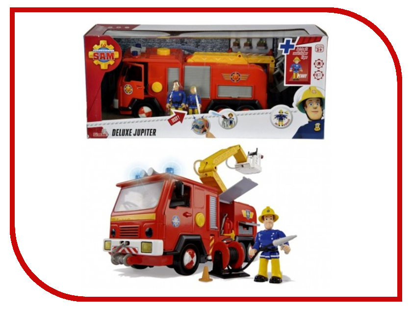Игрушка Simba Fireman Sam Deluxe Jupiter 9257661 simba сортер грибок