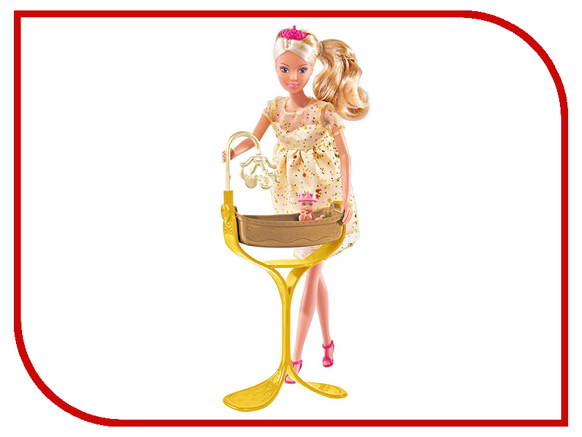 Кукла Simba Беременная Штеффи с люлькой 344448 / 5737084 кукла штеффи в карете simba 5739125
