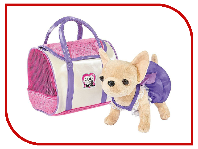 Игрушка Simba Собачка Chi Chi Love Стайл с сумочкой 20cm 407680 / 5897407 simba плюшевая собачка вампирчик chi chi love
