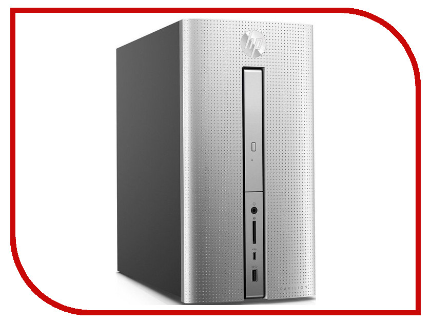 Настольный компьютер HP Pavilion 570-p003ur Silver-Black 1ZP77EA (Intel Core i5-7400 3.0 GHz/4096Mb/256Gb SSD/DVD-RW/Intel HD Graphics/LAN/DOS) компьютер hp pavilion g6