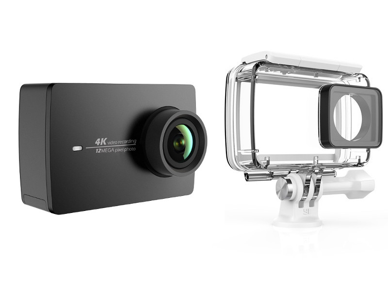 лучшая цена Экшн-камера Xiaomi YI 4K Action Camera Waterproof Case Kit Black