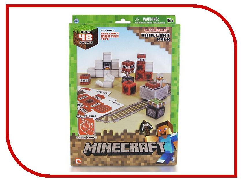 Конструктор Minecraft Papercraft Игровой мир Вагонетка и ТНТ 48 дет. 16713 659 900