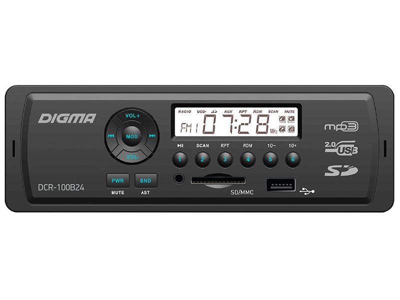 Автомагнитола Digma DCR-100B24