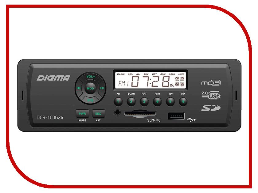Автомагнитола Digma DCR-100G24 автомагнитола digma dcr 100b24