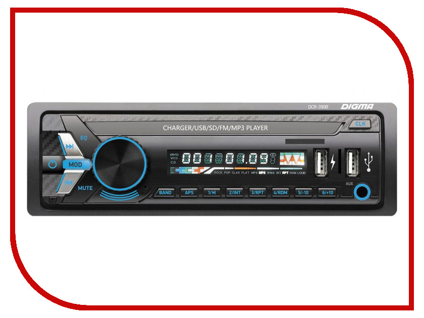 Автомагнитола Digma DCR-390B автомагнитола digma dcr 300g