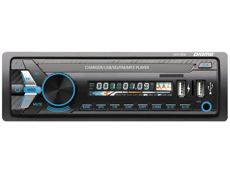 Автомагнитола Digma DCR-390B автомагнитола digma dcr 390b usb sd mmc