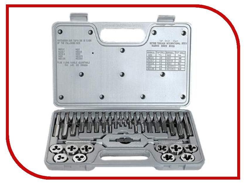 Набор плашек и метчиков Туламаш М3-М12 ТМ 100182 набор метчиков и плашек skrab 33859