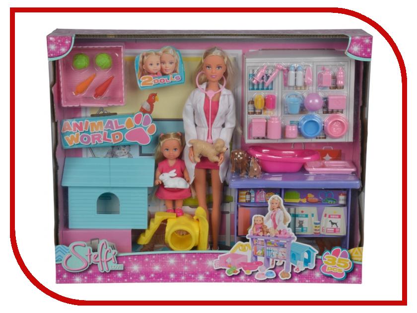 Кукла Simba Штеффи и Еви Мир животных 491240 / 5733040 кукла штеффи в карете simba 5739125