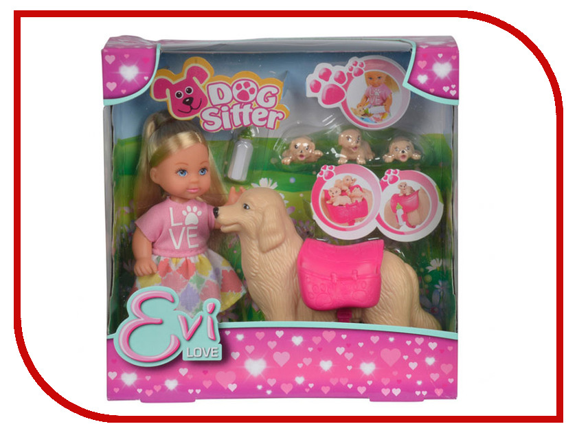 Кукла Simba Еви с собачкой и щенками 486854 / 5733072 simba simba еви и пупс в колыбельке