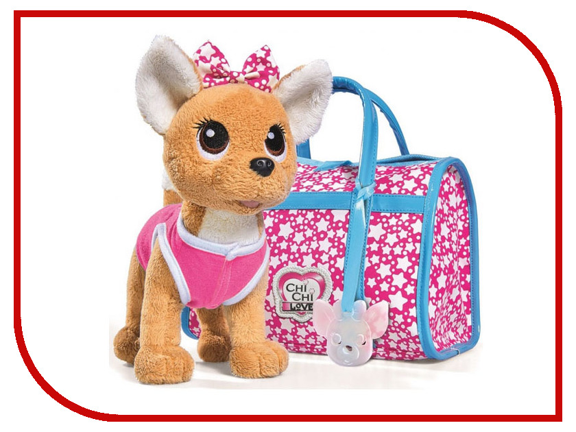 Игрушка Simba Собачка Chi-Chi Love Звездный стиль с сумкой 20cm 585233 / 5893115 simba плюшевая собачка вампирчик chi chi love