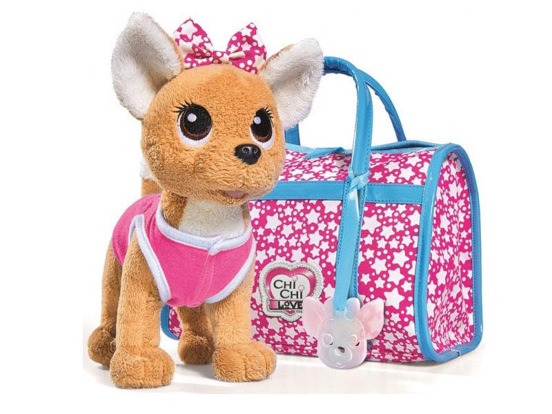 Игрушка Simba Собачка Chi-Chi Love Звездный стиль с сумкой 20cm 585233 / 5893115
