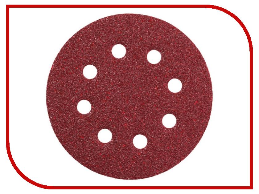 Шлифовальный круг Metabo 125mm P180 25шт 631588000 круг шлифовальный metabo 150мм р120 6 отв 25шт 624023000
