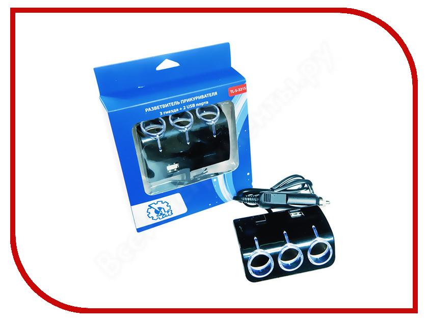 Разветвитель AM 3 гнезда + 2 USB TL-S-321S