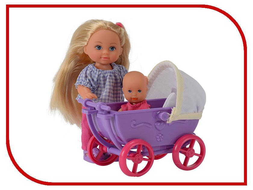 Кукла Simba Еви с малышом на прогулке 69540 / 5736241 baby wooden blocks toys 50pcs multicolored geometric assembling building block beech wood learning educational unisex toddlers