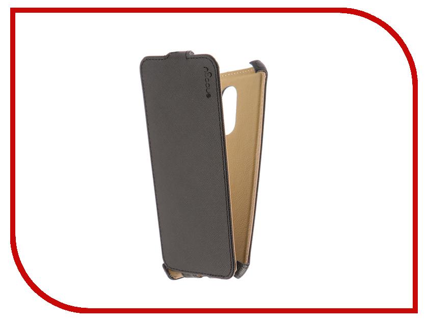 Аксессуар Чехол для Xiaomi Redmi 5 Snoogy иск. кожа Black SN-Xia-5-BLK-LTH аксессуар чехол книжка st case 4 3 4 5 inch иск кожа brown st c sm4 3 4 5 brn lth
