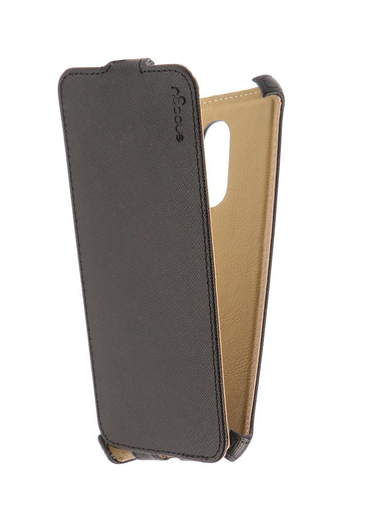 Аксессуар Чехол Snoogy для Xiaomi Redmi 5 иск. кожа Black SN-Xia-5-BLK-LTH