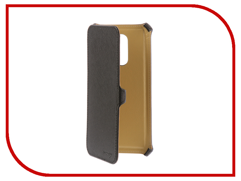 Аксессуар Чехол Xiaomi Redmi 5 Plus Snoogy иск. кожа Black SN-Xiab-5plus-BLK-LTH аксессуар чехол huawei honor 8 lite snoogy иск кожа black sn hhb 8lite blk lth