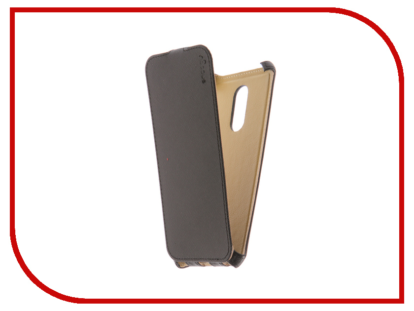 Аксессуар Чехол для Xiaomi Redmi 5 Plus Snoogy Black Sn-XIA-5Plus-BLK-LTH коляска baby care incity khaki