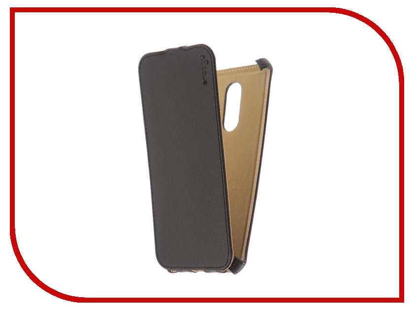 Аксессуар Чехол Xiaomi Redmi 5 Plus Snoogy иск. кожа Black SN-Xia-5Plus-BLK-LTH аксессуар чехол snoogy для apple ipad mini 2 иск кожа brown sn ipad mini2 brn lth