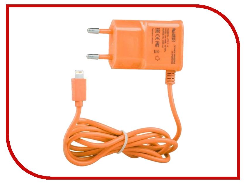 Зарядное устройство Liberty Project 2.1A Apple 8 pin Orange 0L-00000695 аксессуар liberty project 3 in 1 micro usb apple 8 pin apple 30 pin pink r0005042