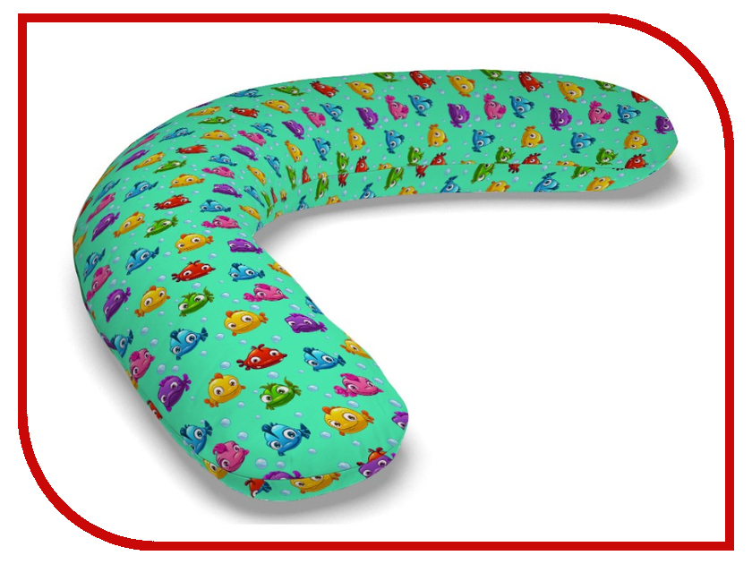 Подушка для беременных LeJoy Relax Рыбки на бирюзовом фоне RL-1017 подушка для беременных lejoy relax рыбки на голубом фоне rl 1010