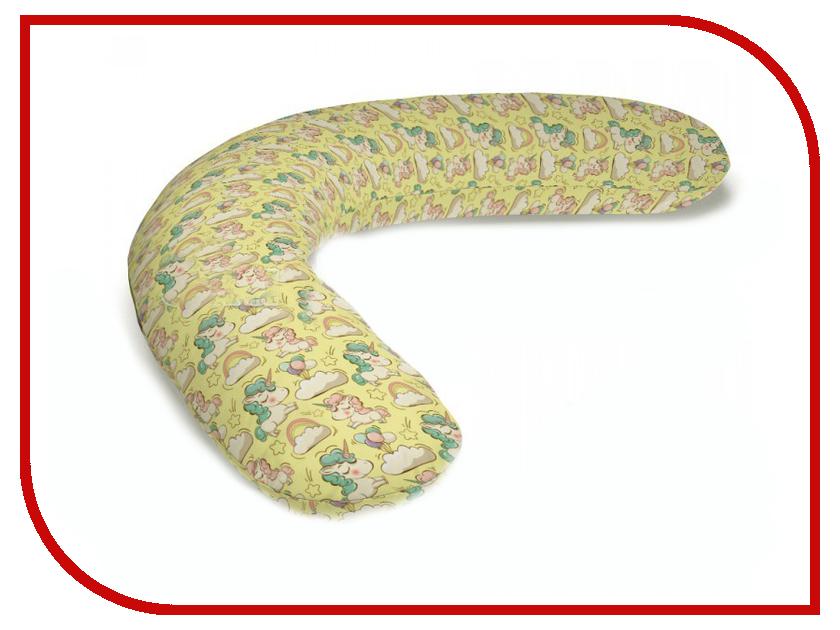 Подушка для беременных LeJoy Relax Единороги желтые RL-1022 подушка для беременных lejoy relax рыбки на голубом фоне rl 1010