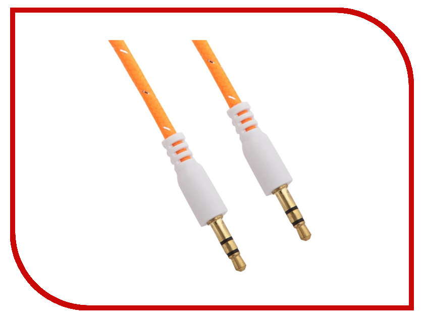 Аксессуар Аудиокабель Liberty Project miniJack 3.5mm - miniJack 3.5mm 1m Orange R0005774