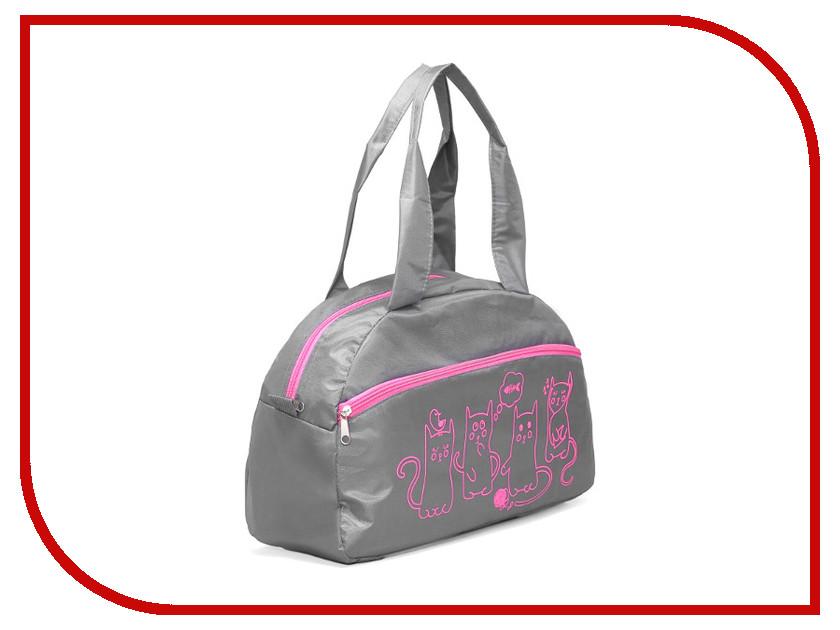 Сумка Сарабелла 46x20x26 Grey-Pink 2545636