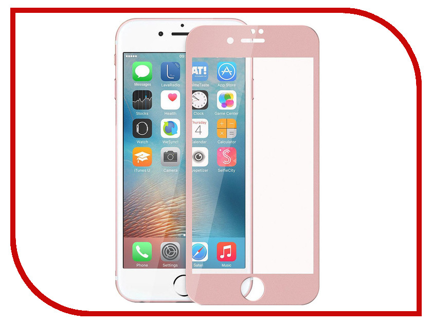 Аксессуар Защитное стекло Liberty Project 4D для APPLE iPhone 8 / 7 Plus Acrylic frame Pink 0L-00033349
