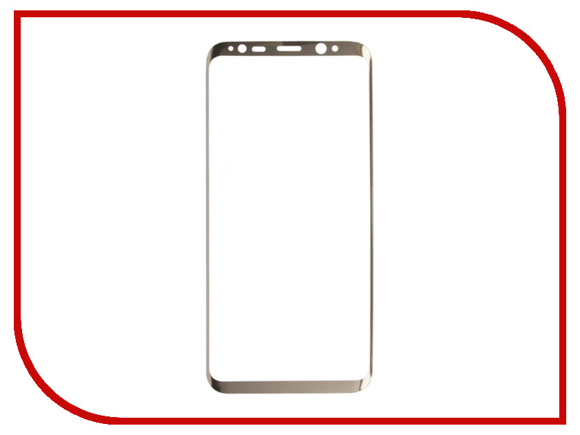 Аксессуар Защитное стекло Liberty Project для Samsung Galaxy S8 Tempered Glass 3D с рамкой 0.33mm Gold 0L-00032886 aluminum project box splitted enclosure 25x25x80mm diy for pcb electronics enclosure new wholesale