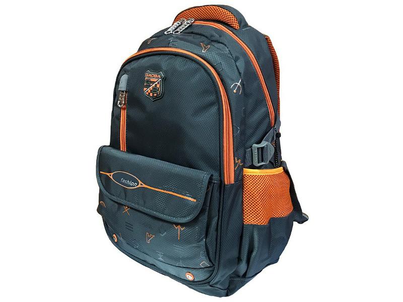 купить Рюкзак Gaoba Signs Grey-Orange 62665 по цене 1145 рублей
