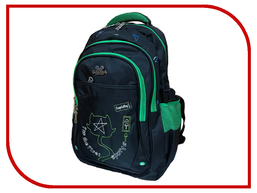Рюкзак Gaoba First Sports Black-Green 6899