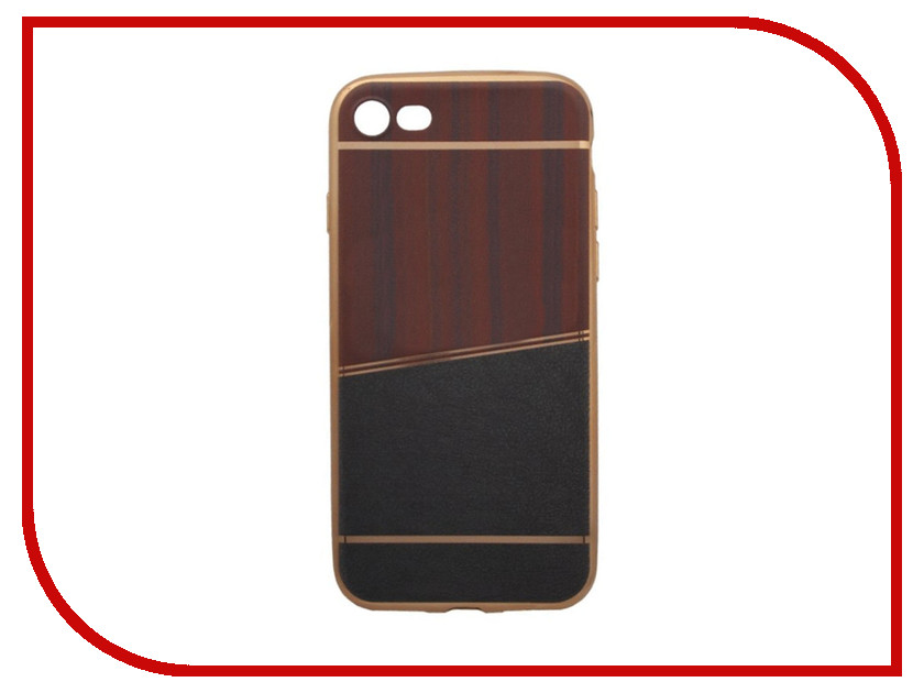 Аксессуар Чехол Liberty Project Silicone для APPLE iPhone 8 / 7 Brown-Dark Grey Gold Frame 0L-00031831 aluminum project box splitted enclosure 25x25x80mm diy for pcb electronics enclosure new wholesale