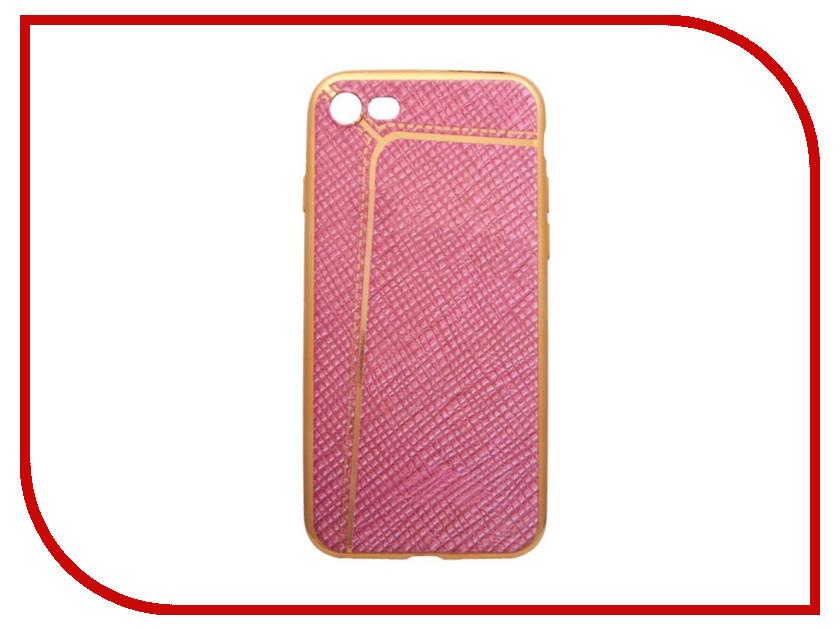 Аксессуар Чехол Liberty Project Silicone для APPLE iPhone 8 / 7 Pink Flax Gold Line 0L-00031816 aluminum project box splitted enclosure 25x25x80mm diy for pcb electronics enclosure new wholesale