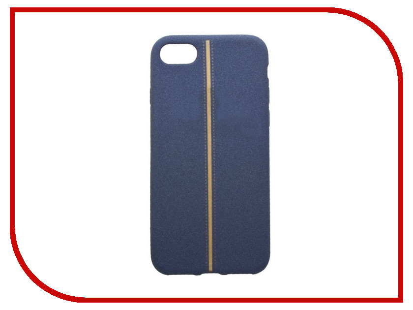 Аксессуар Чехол Liberty Project Silicone для APPLE iPhone 8 / 7 Blue-Gold 0L-00031822 aluminum project box splitted enclosure 25x25x80mm diy for pcb electronics enclosure new wholesale