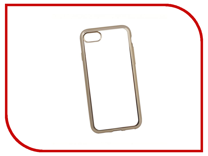 Аксессуар Чехол Liberty Project для APPLE iPhone 8 / 7 Silicone TPU Transparent Gold-Chrome frame 0L-00029645 аксессуар чехол nillkin nature tpu для iphone 7 8 white n tpu ap iphone7