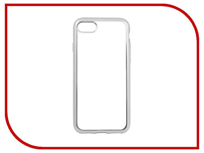 Аксессуар Чехол Liberty Project Silicone для APPLE iPhone 8 / 7 TPU Transparent Silver-Chrome frame 0L-00029647 protective tpu pc bumper frame for 4 7 iphone 6 pink transparent