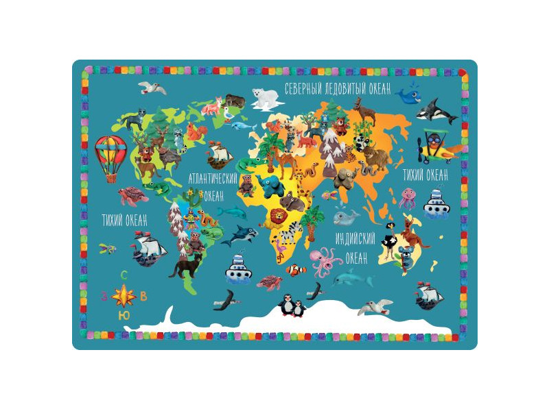 Накладка на стол Silwerhof Животные мира 33x46cm 671624