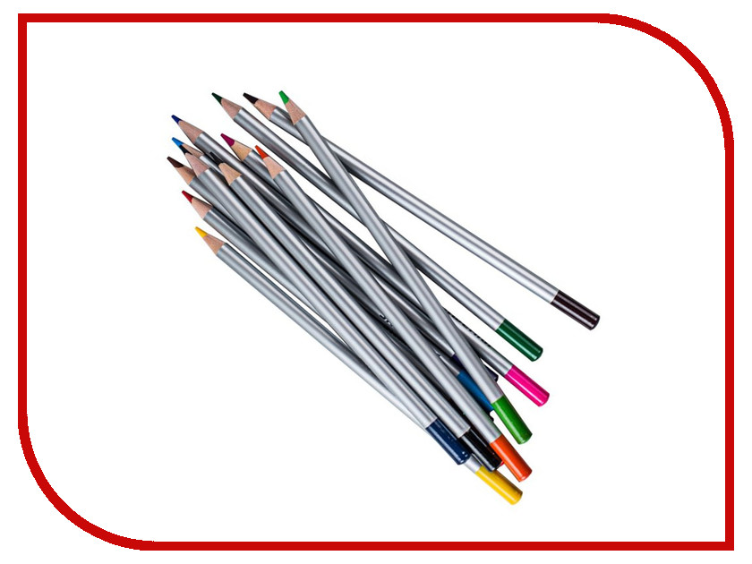 Карандаши цветные Silwerhof 12 цветов 134211-12 silwerhof карандаши цветные пластилиновая коллекция 18 цветов
