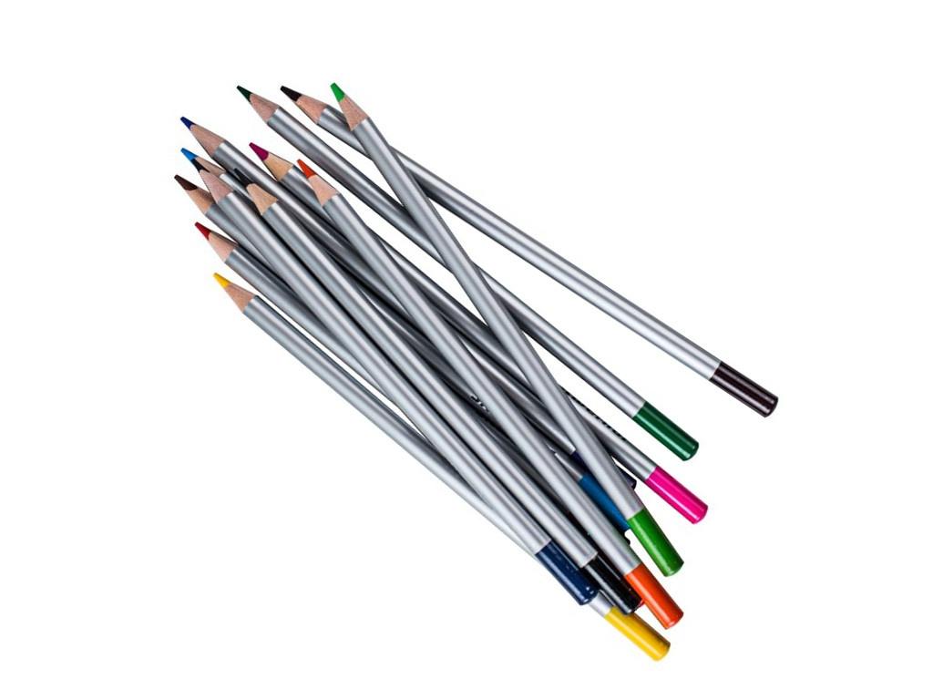 Карандаши цветные Silwerhof 12 цветов 134211-12 ручки и карандаши silwerhof карандаши цветные silwerhof 12 цв