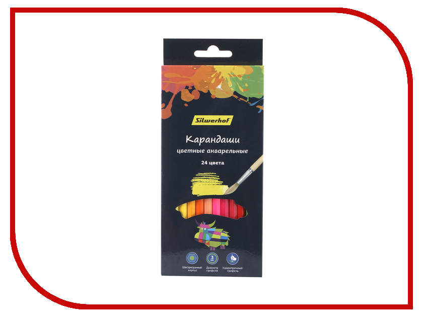 Карандаши цветные Silwerhof 24 цвета 134213-24 truecolor цветные карандаши для рисунка 24 цвета