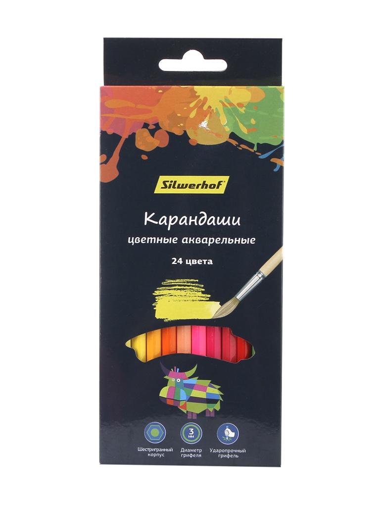 Карандаши цветные Silwerhof 24 цвета 134213-24 ручки и карандаши silwerhof карандаши цветные silwerhof 24 цв