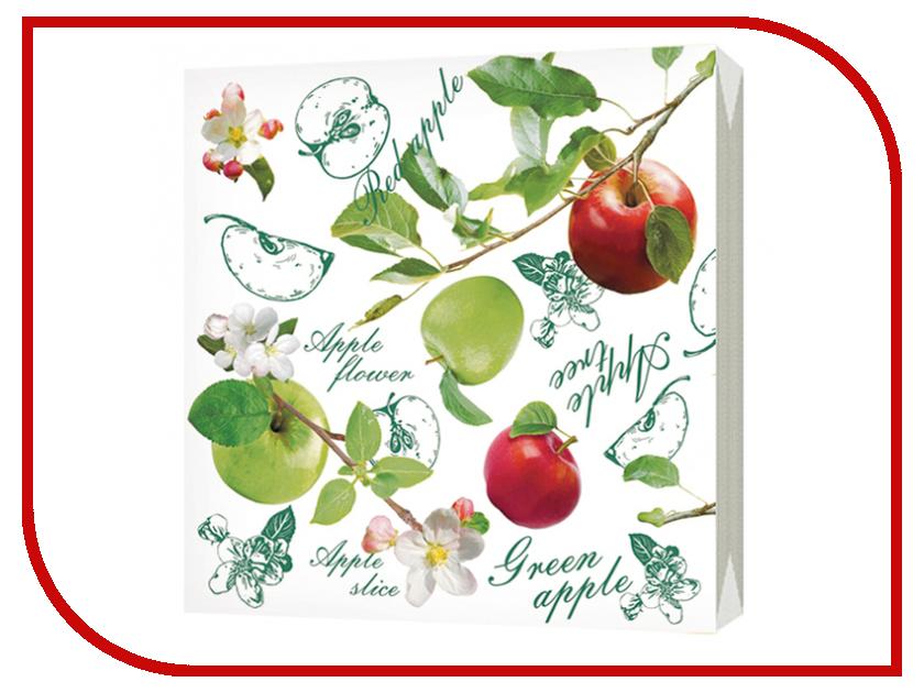 Салфетки Bulgaree Green Наливные яблочки 24x24 2 слоя 50шт 1000210