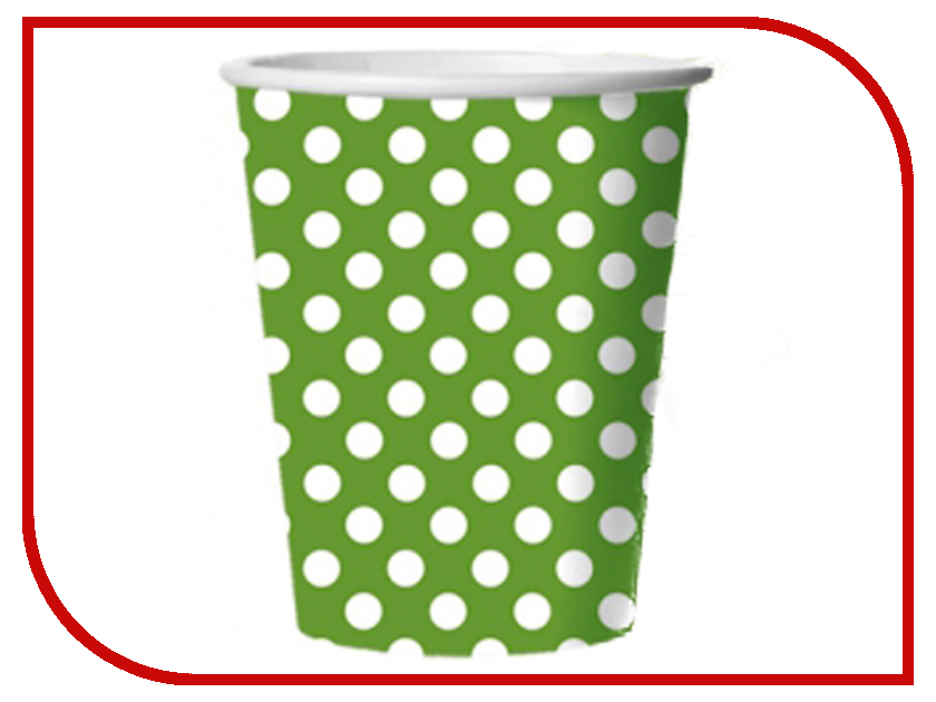 Стакан картонный Bulgaree Green Зеленый горох 0.25ml 10шт тарелка картонная bulgaree green праздник d 23cm 10шт