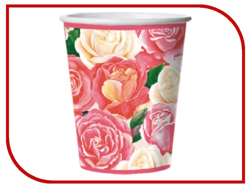 Стакан картонный Bulgaree Green Розовый букет 0.25ml 10шт 3322412 тарелка картонная bulgaree green праздник d 23cm 10шт