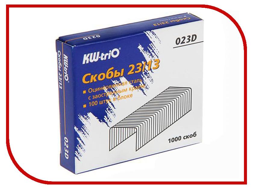 Скобы для степлера KW-triO 23/13 1000шт 023D коврик для ванной iddis fatty lines 50x80 см 510m580i12
