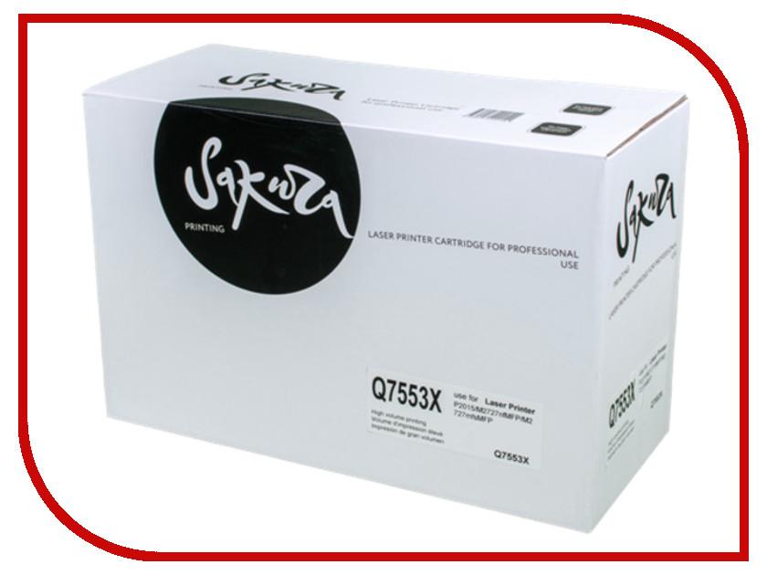 Картридж Sakura SAQ7553X Black для HP LJ P2014/P2015/M2727 6000к